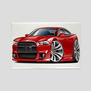 Charger SRT8 Red Car Rectangle Magnet