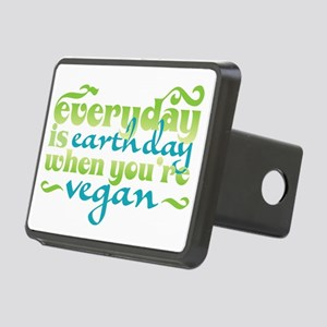 Vegan Earth Day Rectangular Hitch Coverle)