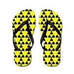 Radiation Warning Yellow FF Flip Flops