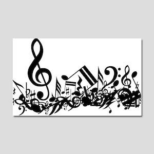 Black Musical Notes Car Magnet 20 x 12