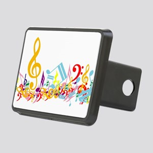 Colorful Musical Notes Rectangular Hitch Cover