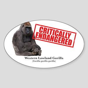 Western Lowland Gorilla Sticker (Oval)