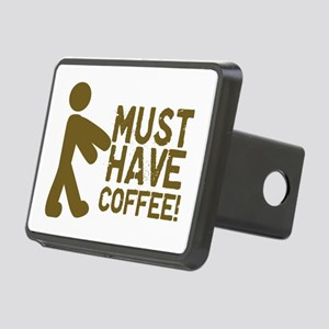 Must Have COFFEE! Zombie Rectangular Hitch Cover