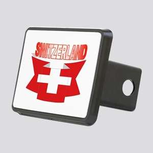 Swiss flag ribbon Rectangular Hitch Cover