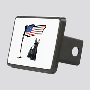 USA Scottie Dog Rectangular Hitch Cover