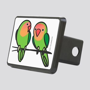 Peach-Faced Lovebirds Rectangular Hitch Coverle)