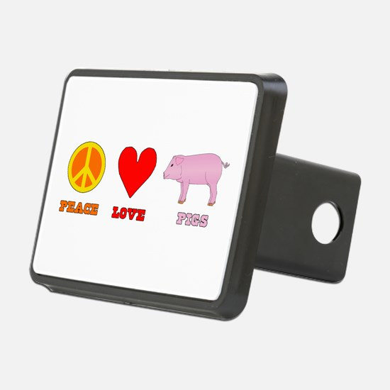 Peace Love Pigs Rectangular Hitch Coverle)