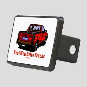 Real Men Drive Trucks Rectangular Hitch Cover