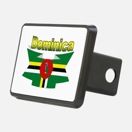 Dominica republic flag ribbon Hitch Cover