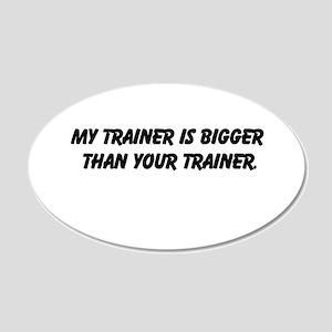 my trainer 22x14 Oval Wall Peel