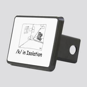 K in isolation Rectangular Hitch Cover
