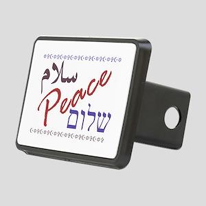 Peace (Arabic, English, Hebre Rectangular Hitch Co