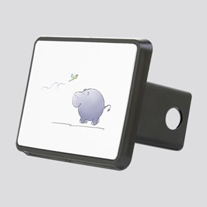 hippo and dragonfly Rectangular Hitch Cover