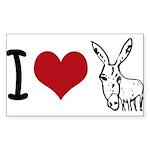 I heart... Sticker (Rectangle 50 pk)