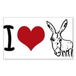 I heart... Sticker (Rectangle 10 pk)