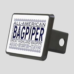 All American Bagpiper Rectangular Hitch Cover