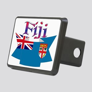 Fiji flag ribbon Rectangular Hitch Cover