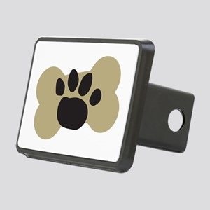 Dog Lover Paw Print Rectangular Hitch Cover