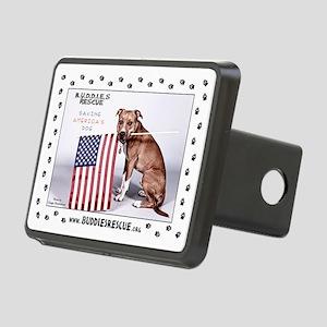 Saving America's Dog Rectangular Hitch Coverle)
