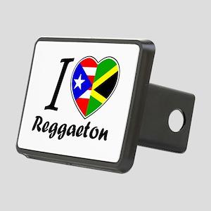 i love reggaeton Rectangular Hitch Cover