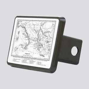 Wanderings of Aeneas Map Rectangular Hitch Coverle