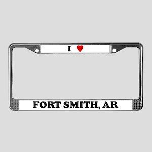 I Love Fort Smith License Plate Frame