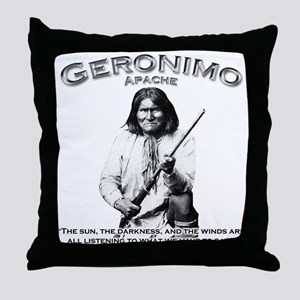 Geronimo 01 Throw Pillow