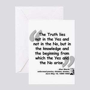 barth truth quote greeting card - Christian Greeting Cards