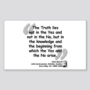 Barth Truth Quote Sticker (Rectangle)