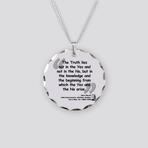 Barth Truth Quote Necklace Circle Charm