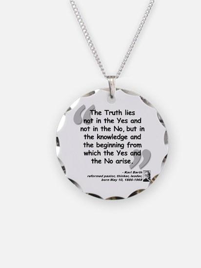 Barth Truth Quote Necklace