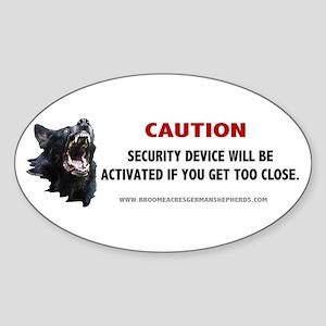 Schutzhund Oval Sticker