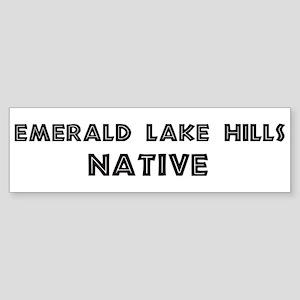 Emerald Lake Hills Native Bumper Sticker
