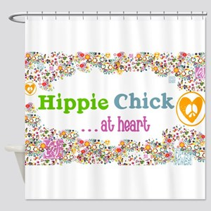 Hippie Chick at Heart Shower Curtain