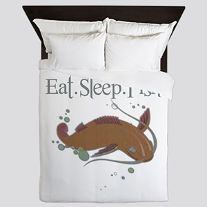 Eat.Sleep.Fish. Queen Duvet