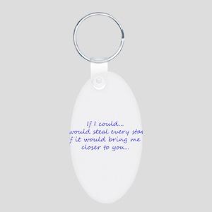 Miss You Aluminum Oval Keychain