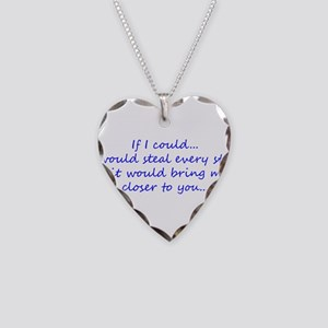 Miss You Necklace Heart Charm