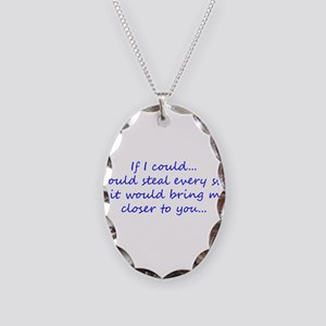 Miss You Necklace Oval Charm