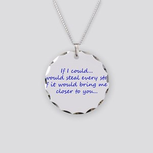 Miss You Necklace Circle Charm