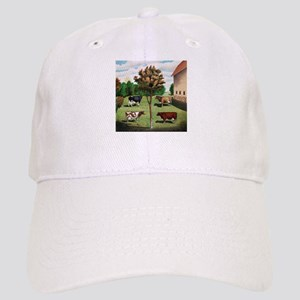 Vintage Cow Art Cap