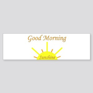 Good Morning Sunshine Sticker (Bumper)