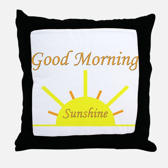 Good Morning Sunshine.png Throw Pillow
