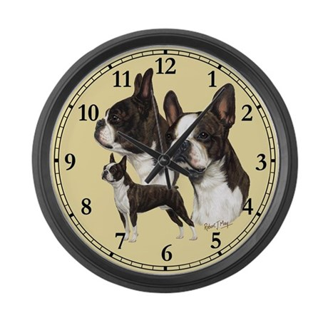 Boston Terrier Large Wall Clock