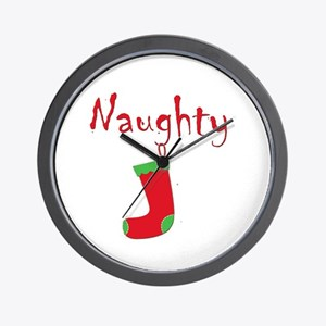 Naughty.png Wall Clock