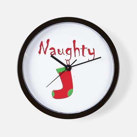 Naughty.png Wall Clock