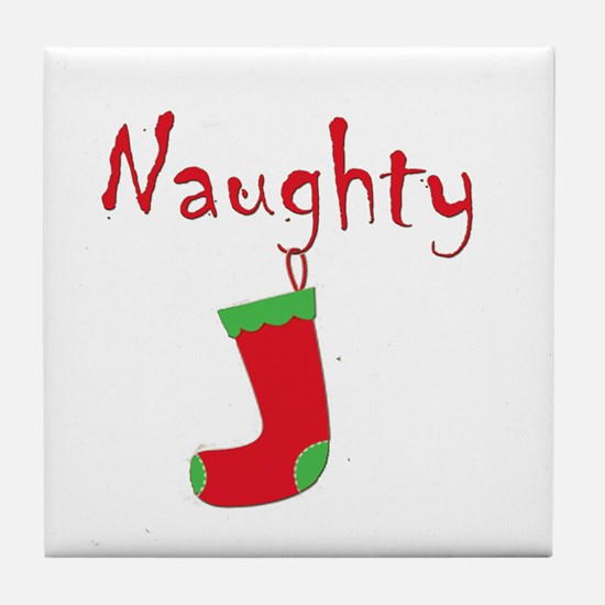 Naughty.png Tile Coaster