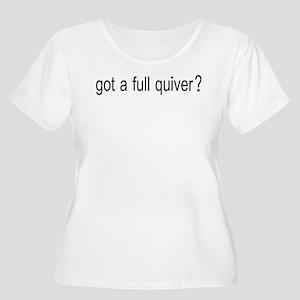 GOT A FULL QUIVER Women's Plus Size Scoop Neck T-S