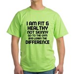 I am Fit & Healthy Green T-Shirt