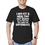 I am Fit & Healthy Men's Fitted T-Shirt (dark)