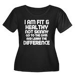 I am Fit & Healthy Women's Plus Size Scoop Neck Da
